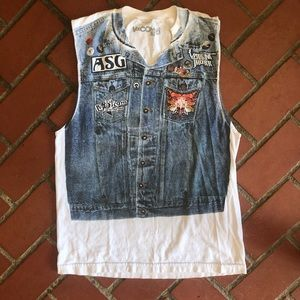 Volcom 2007 Tour Denim Vest Tee
